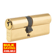 Union 6-Pin Euro Cylinder Lock 40-40 (80mm) Brass