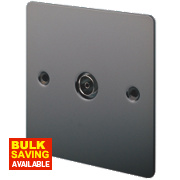 LAP 1-Gang TV Coaxial Socket Black Nickel