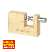 Master Lock Rectangular Brass Padlock 63mm