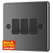LAP 3-Gang 2-Way 10AX Light Switch Black Nickel