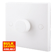 British General 1-Gang 2-Way 400W Push Dimmer Switch White