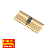 Century 5-Pin Euro Double Cylinder Lock 40-40 (80mm) Brass