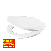 Carrara and Matta Atlantic Spa Toilet Seat Thermoplastic White