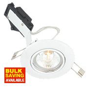 LAP Adjustable Round Low Voltage Downlight White 12V