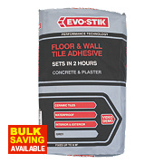 Evo-Stik Fast Set Wall & Floor Tile Adhesive Grey 20kg