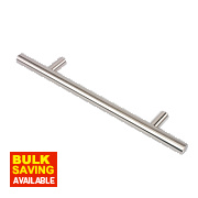 Fingertip Design T-Bar Cabinet Door Handle Brushed Nickel 128mm