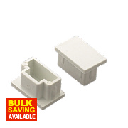 Tower End Cap 25 x 16mm Pack of 2