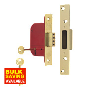 "ERA 5 Lever Mortice Deadlock Brass Effect 2½"" / 64mm"