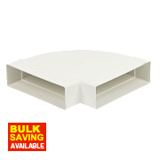Manrose Horizontal 90° Bend White 120mm