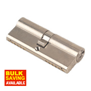 Yale 6-Pin Euro Cylinder Lock BS 40-40 (80mm) Satin Nickel