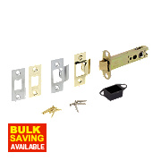 Eclipse Double Sprung Mortice Latch Electro Brass / Satin Chrome 102mm