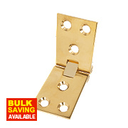 Counter Flap Hinge Polished Brass 102 x 38mm Pack of 10