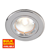 Robus Fixed Mains Voltage Downlight Polished Chrome 240V Pk10
