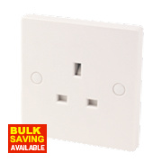 1-Gang 13A SP Unswitched Socket White