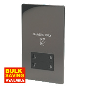 LAP Dual Voltage Shaver Socket 115/230V Black Nickel