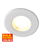 Robus Fixed Round Mains Voltage Bathroom Downlight White 240V