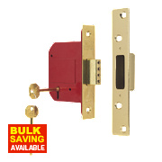 "ERA 5 Lever Mortice Deadlock Brass Effect 3"" / 76mm"