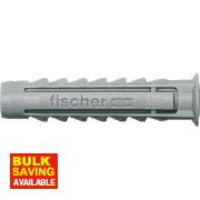 Fischer Fischer SX Nylon Plugs 6-8 x 50mm Pack of 50