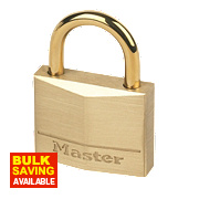 Master Lock Padlock Brass 35mm