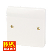 MK Logic Plus 1-Gang 20A Flex Outlet Plate White