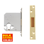 "Securefast Euro Cylinder Deadlock Polished Brass 3"" (76mm) Backset"