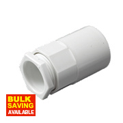 Tower Female Adaptors 20mm White Pack of 2