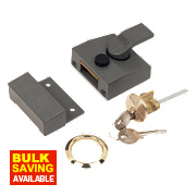 Yale 630085001702 Narrow Night Latch Grey 40mm Backset