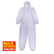 "3M 4515 Type 5/6 Disposable Coverall White Lge/X Lge 42-45"" Chest"