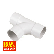 FloPlast Equal Tees White 32mm Pack of 3