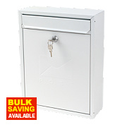 Sterling Compact Post Box White