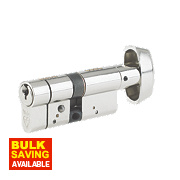 Yale -Pin Anti-Snap Euro Cylinder Thumbturn Lock 40-40 (80mm) Brushed Nickel