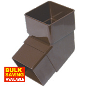 FloPlast RBS2 112.5° Square Offset Bend Brown 65mm