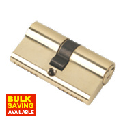 Securefast 6-Pin Euro Cylinder Lock 30-30 (60mm) Polished Brass