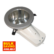 ASD Atom™ Round Mains Voltage Downlight Fixed CFL Polished Chrome 240V