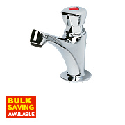 H & C Self-Closing Bathroom Basin Tap