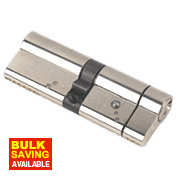 Yale Anti-Snap Euro Double Cylinder Lock 45-45 (90mm) Brushed Nickel