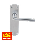 Serozzetta Uno Lever on Backplate Latch Pack Satin Chrome