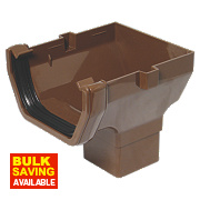 FloPlast ROS2 Square Line Stop End Outlet Brown 114mm