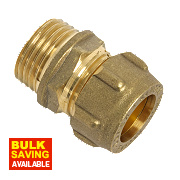 "Conex Male Coupler 302 15mm x ½"" DZR"