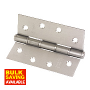 Grade 7 Washered Fire Hinges Satin Stainless Steel 102 x 76mm Pk2