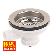 Brushed Stainless Steel Sink Strainer Waste