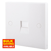 British General 1-Gang Slave Telephone Socket White
