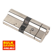 Yale AS Series Euro Double Cylinder Lock 40-40 (80mm) Brushed Nickel