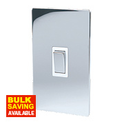 LAP 2-Gang 45A DP Cooker Switch Polished Chrome