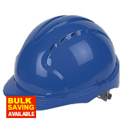 JSP EVO3 Comfort Plus Adjustable Slip Vented Safety Helmet Blue