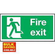 """Fire Exit"" Left Sign 150 x 300mm"