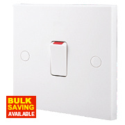 British General 20A 1-Gang Double Pole Switch White