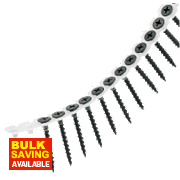 Collated Drywall Screws Black Coarse Thread 3.9 x 25mm Pack of 1000