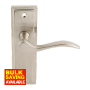Bordeaux Lever Latch Pair Satin Nickel