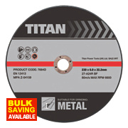 Titan Grinding Discs 230 x 6 x 22.23mm Pack of 3